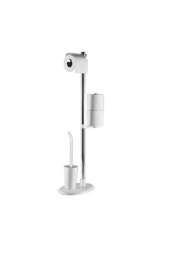 Primanova Primanova Ayaklı Wc Tuvalet Kağıtlık - Tuvalet Fırçası Beyaz Beyaz